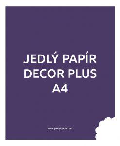 Jedlý papír Decor Plus A4