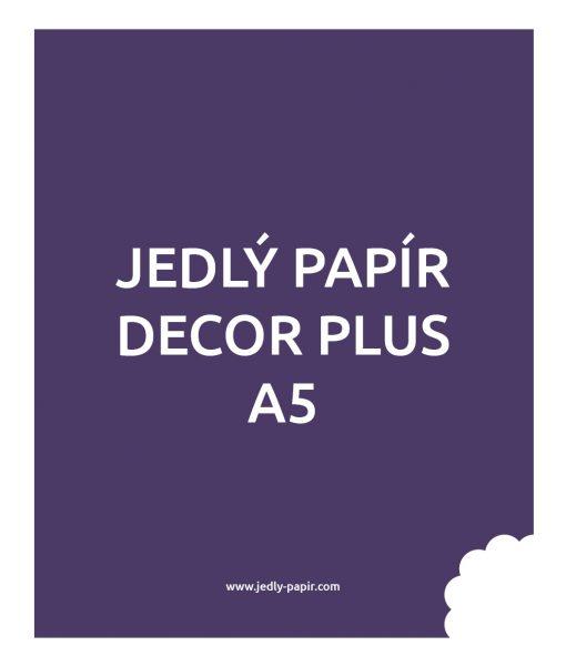 Jedlý papír Decor Plus A5